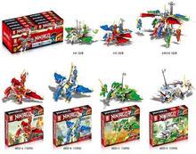 4Pcs/lot Ninja Dragon  Building Block KAI JAY COLE ZANE Lloyd WU NYA GARMADON Ninja Toys Compatible with Lepin