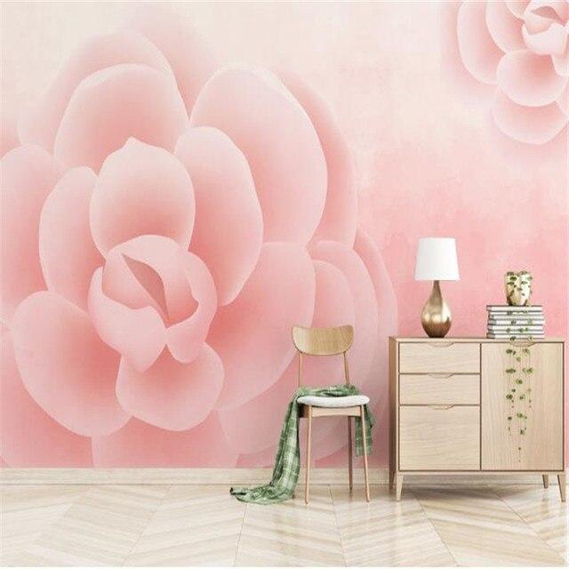 Custom 3D Mural Wallpaper for Walls 3D Vintage Rose for Living Room ...