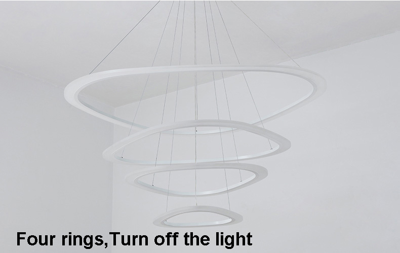 HTB1tfUlcStYBeNjSspkq6zU8VXa6 New Modern pendant lights for living room dining room 4/3/2/1 Circle Rings acrylic LED Lighting ceiling Lamp fixtures