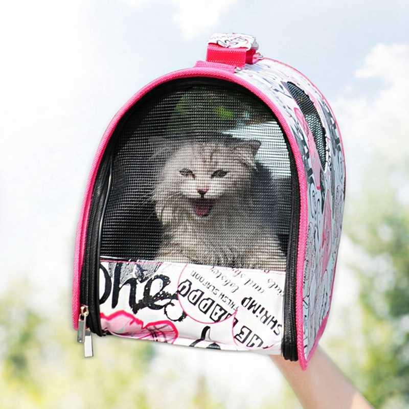 ペットの猫のキャリア航空会社承認犬猫用スリングポータブル折りたたみトートバッグ運ぶケージ