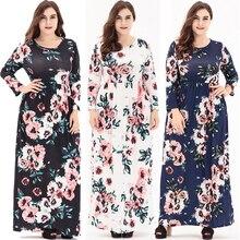 207b7792312 New 2018 women long dress spring autumn ladies fashion desigual dresses  women floral maxi full sleeve