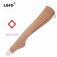 2015 Women Medical Varices Compression Sox Stocking Sox With Zipper