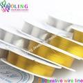 0.3/0.4/0.5 ММ 20 12 7 м/рулон 2016 новое золото посеребренная провода линии DIY бисером серьги Браслет колье ожерелье ювелирных изделий