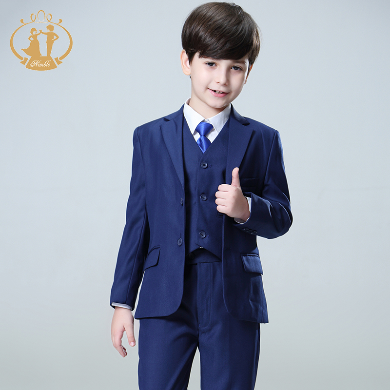 Nimble Blue boys suits for weddings kids Blazer Suit for boy costume enfant garcon mariage jogging garcon blazer boys tuxedo 2017 new boys clothing set camouflage 3 9t boy sports suits kids clothes suit cotton boys tracksuit teenage costume long sleeve
