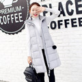 Plus Size 3XLCasual Women Vests 2016 Winter Coat Women Vest Long Hooded Slim Ladies Vests Thick Outerwear Girl Vests Green