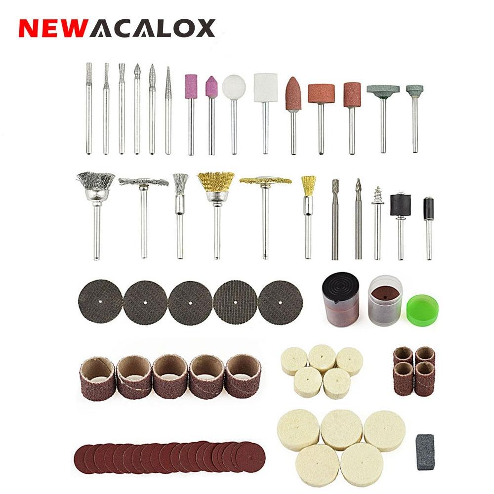 NEWACALOX 147pcs/lot Abrasive Accessories Rotary Tool Bit Set Dremel 1/8