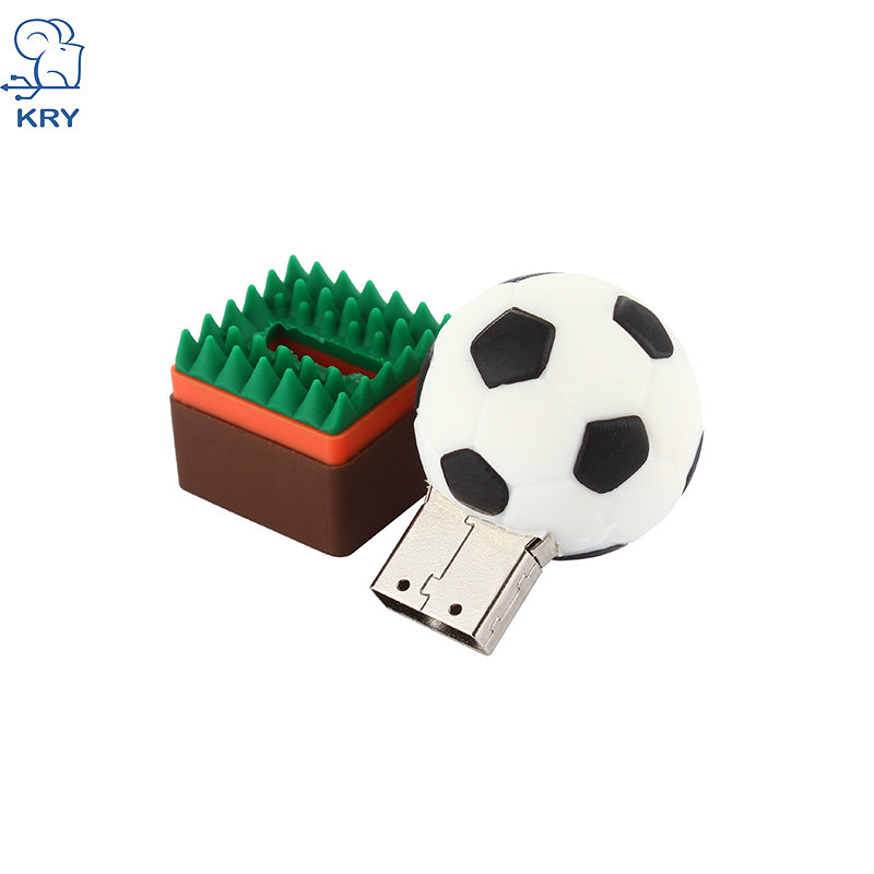 new cartoon soccer memory stick 2 0 memory card 4GB 8GB 16GB 32GB 64GB plastic rugby usb 3 0 pendrive flash drive free shipping in USB Flash Drives from Computer Office