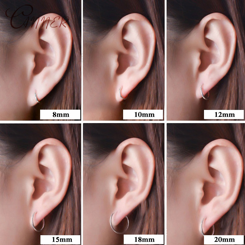 CANNER, 1 пара, маленькие серьги-кольца, 925 пробы, серебряные, Круглые, Huggie, серьги-кольца для женщин, мужчин, ушное кольцо, Ушная кость, пряжка