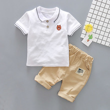 Baby Boys Summer Cotton Clothes Set Fashion Cartoon Bear Sports Suit For A Boy T-Shirt + Shorts Children  Clothing