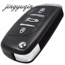 jingyuqin MODIFIED FLIP REMOTE CAR KEY SHELL FOB FOR NISSAN TIIDA LIVINA GENISS NV200 QASHQAI Paladin VenuciaD50/R50 SYLPHY