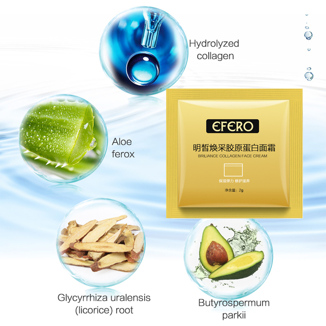 10packs Collogen Moisturizing Face Cream Skin Care Whitening Cream Lifting Firming Anti Wrinkle Serum for Face Cream Essence 5