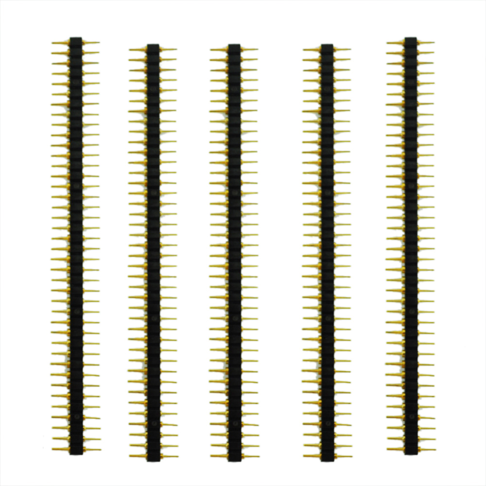 New Style New 5 Pcs Plastic 2.45mm Pitch 40 Position Single Row Round Male Pin Header