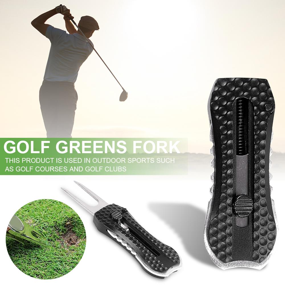 Black Golf Greens Fork Turf Fork Fork Greens Fork Zinc Alloy Golf Products Accessories