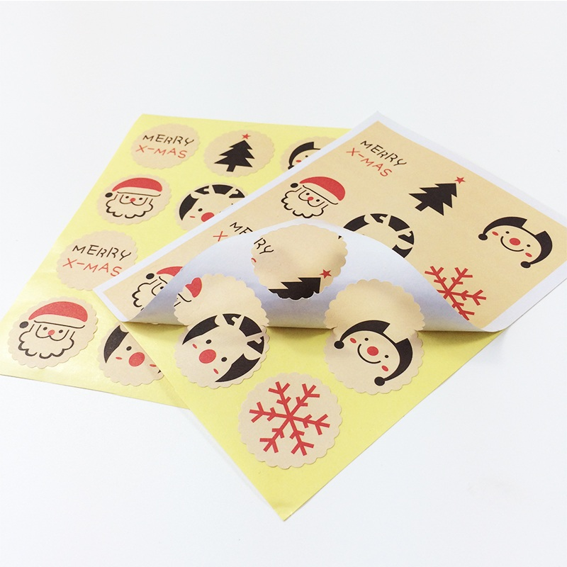 Купить с кэшбэком 120PCS/Lot Merry Christmas Seal sticker DIY Gifts posted Baking Decoration package self-adhesive sealing stickers Gift Stickers