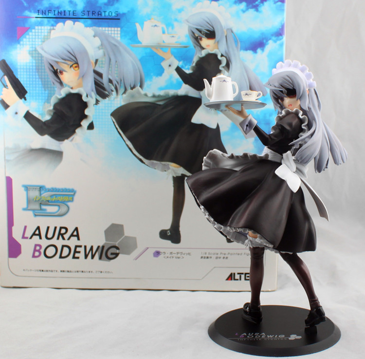 ФОТО Free Shipping Anime Infinite Stratos Laura Bodewig waiter style Ver. PVC Action Figure Collection Model Toy 21cm SGFG141