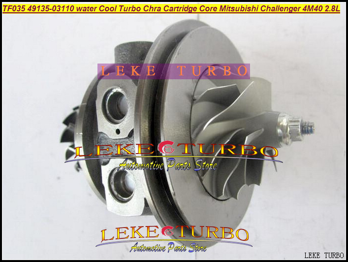 Free Ship TURBO Cartridge CHRA TF035 49135-03101 49135-03110 Water Cooled Turbocharger For Mitsubishi PAJERO Delica 4M40 2.8L D free ship rhf4 vp47 xnz1118600000 turbo turbine turbocharger for isuzu trooper dongfeng pickup 4jb1t engine wind cooled