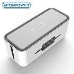NTON power RMB жесткий пластиковый настольный органайзер кабельный контейнер для намотки чехол блок питания коробка для хранения и пылезащитная ...