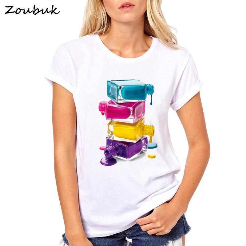 Sommer top nagellack T Shirt Frauen Elastische Grundlegende vogue T shirts femme maiden Casual t-shirt damen t T-shirt Frauen plus größe