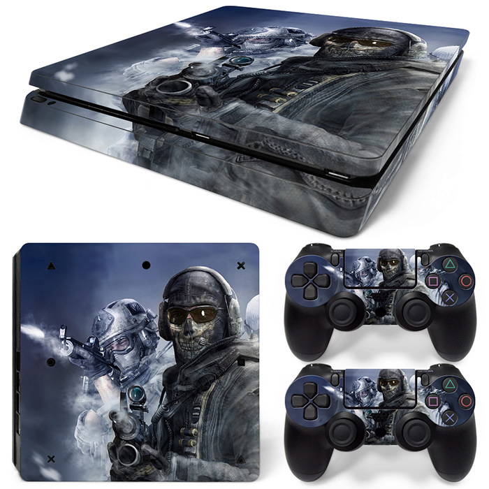 USA Flag American Flag with an Eagle Protective sticker for PS4 slim console and two controller skin covers  #TN-P4Slim-1497