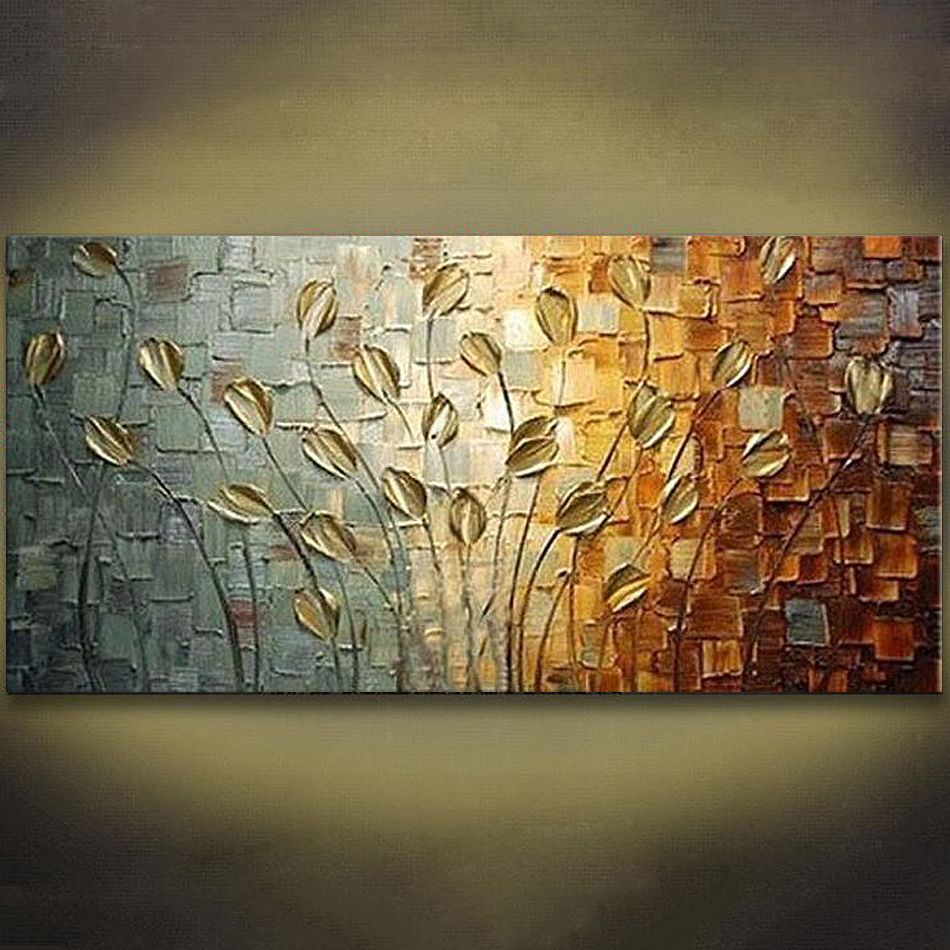 Canvas Painting palette knife 3D texture acrylic Flower painting