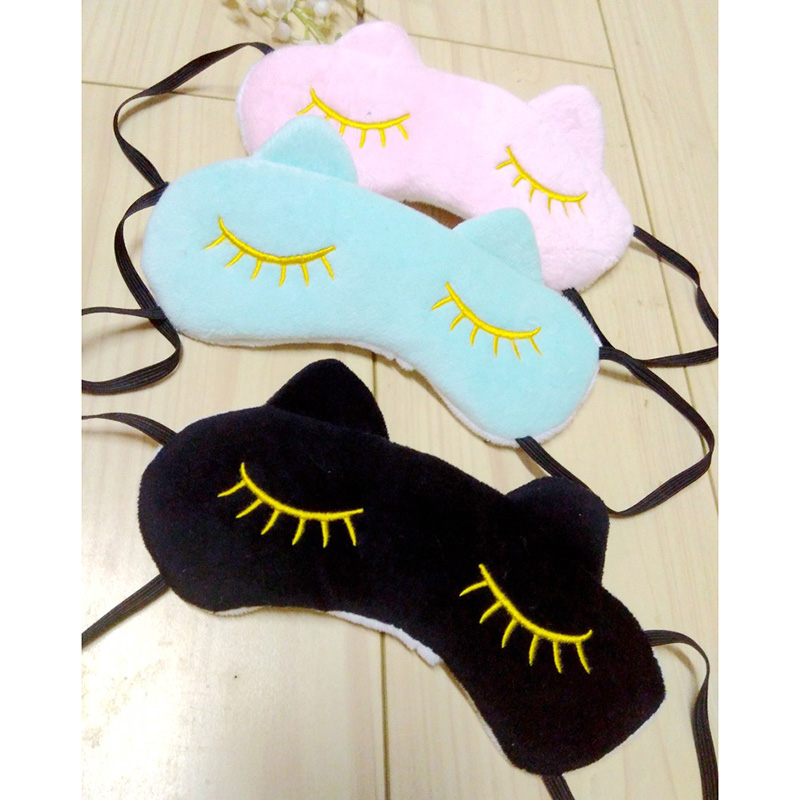 Good Healthy 2 Pcs Personal Care products Sleeping Eye Mask Cartoon Cat Soft Sleep Travel Eye Protective Gear