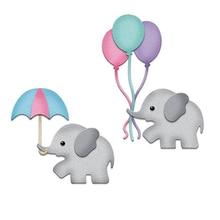 Hemere Balloon Elephant Frame Embossing Knife Mold Metal Cutting Dies for DIY Scrapbooking Invitation/Album Card Embossing Die