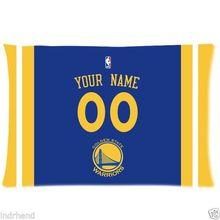 NUEVA Golden State Warriors BasketBall Funda de Almohada Personalizado Con Su Nombre y Número