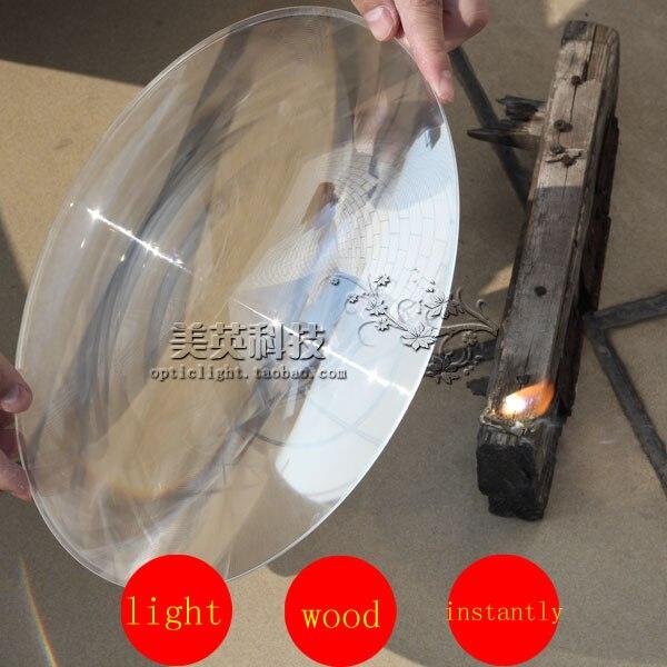 Линза Френеля солнечное фокусное расстояние 450 мм Диаметр 360 мм линза Френеля большой размер круглая линза Френеля Горячая линза