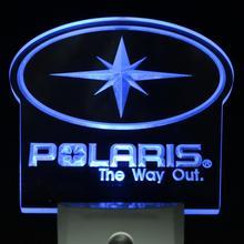 ws0075 Polaris Snowmobile logo Sale New Day/ Night Sensor Led Night Light Sign