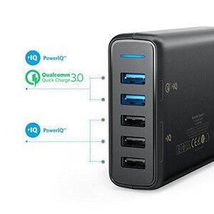 "Image 3 - אנקר מהיר תשלום 3.0 63W 5 יציאת בארה""ב/בריטניה/האיחוד האירופי USB מטען קיר, powerIQ PowerPort מהירות 5 עבור iPhone iPad, LG, Nexus, HTC ועוד"