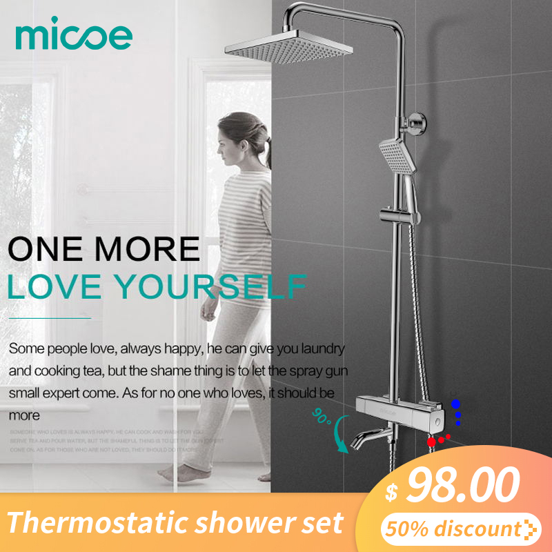 2019 New Real Robinet Shower Set Micoe Hot Sale For Thermostatic Shower Bathroom Chuveiro And Cold