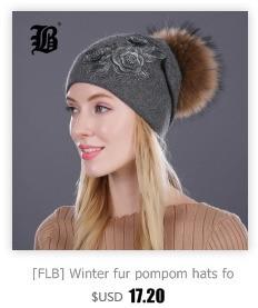 [FLB] Wholesale Real Mink Fur Pom Poms Knitted Hat Ball Beanies Winter Hat For Women Girl 'S Wool Hat Cotton Skullies Female Cap 164