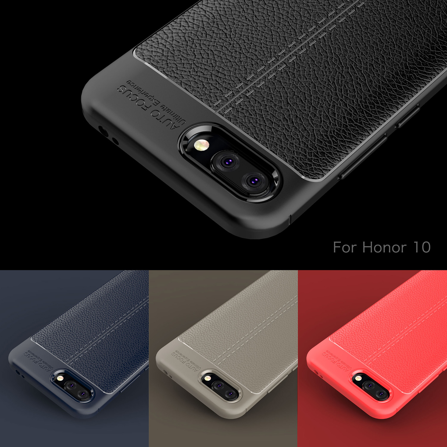 Honor 10 Soft TPU Case for Huawei Honor 10 Cover Leather Texture Silicon Phone Cover For Huawei Honor 10 Business Coque Wolfsay in Fitted Cases from Cellphones Telecommunications