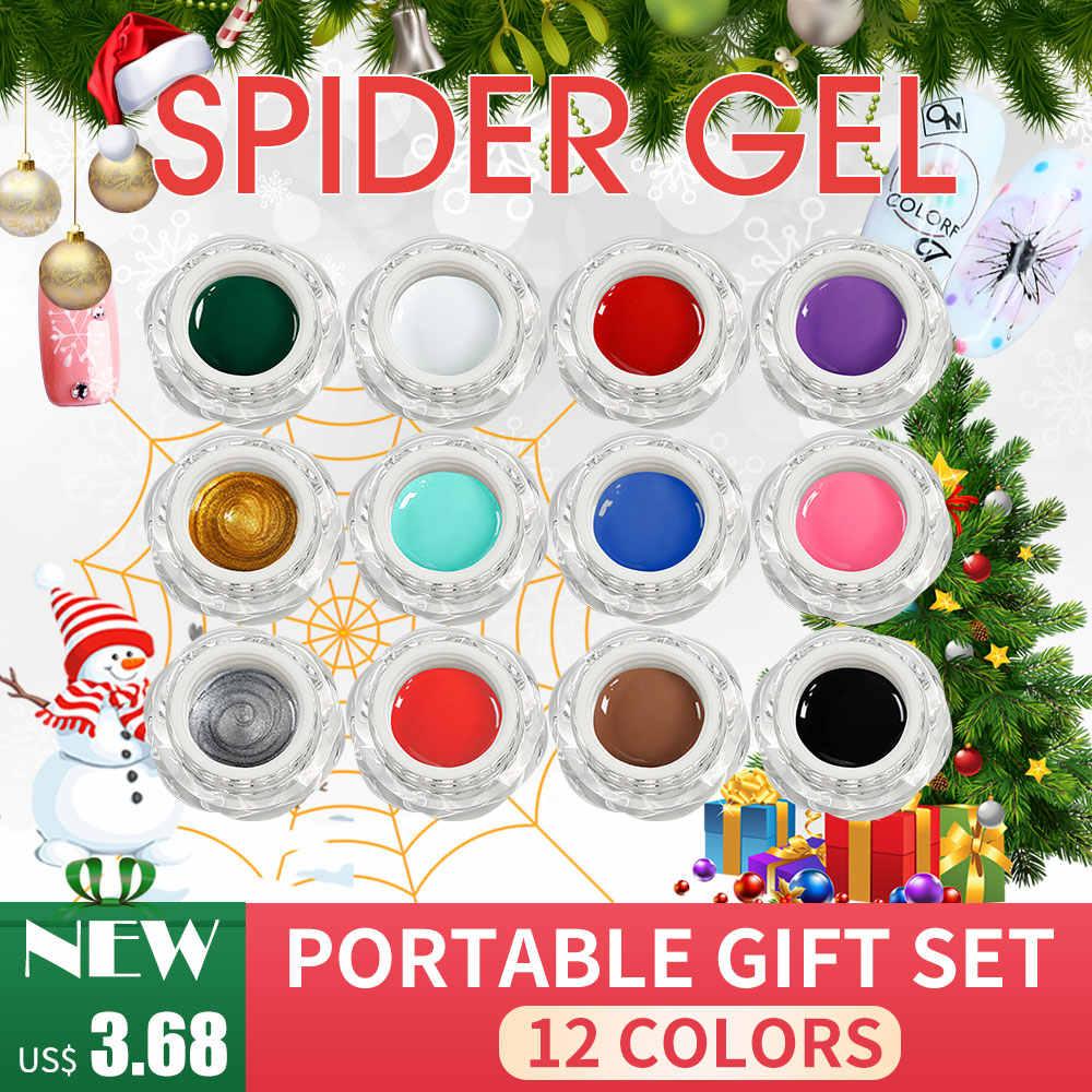 BlinkinGel Elastic Spider Gels Paint UV LED Gel Nail Polish Set Silk  Painting Gel Paste Polish aaf44fad7e7b
