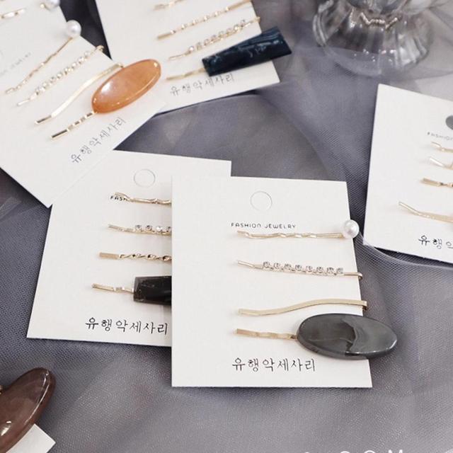 M MISM İnciler Saç Klipler Kadınlar için Moda Tatlı İmitasyon Kore Stil Tokalar Alaşım BB Headmade Kız INS saç aksesuarları