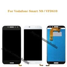 ل فودافون VFD610 الذكية N8 شاشة الكريستال السائل + محول الأرقام بشاشة تعمل بلمس مكون استبدال VFD 610 شاشة مكون 100% اختبار