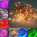 Alta Calidad Batería AA Operado 10 M 100 LED de Vacaciones de Navidad de La Boda Decoración Del Partido Del Festival Luces de Hadas de la Secuencia del Alambre de Cobre