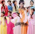 Novo Chinês Tradicional Das Mulheres Hanfu Vestido de Fadas Chinês Vestido Vermelho Branco Hanfu Dinastia Tang Roupas Traje Chinês Antigo