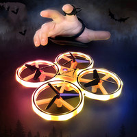 Mini Four Axis Drone Smart Watch Remote Sensing Gesture Interaction Pneumatic High Altitude Aircraft RC Toys Gift for Kids