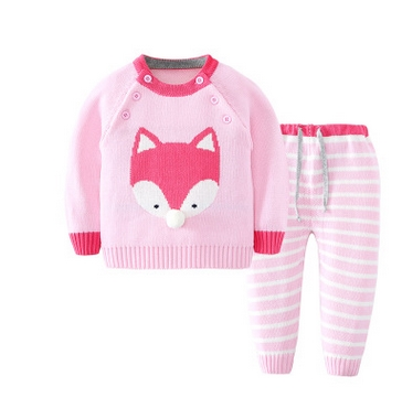 2017-Girl-Boy-Knitting-Winter-Sweater-Kid-Knit-Jacket-Long-Sleeve-Baby-Clothes-2-pieces-Top-Pants-2