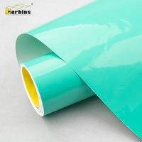 CARBINS Премиум супер блеск Тиффани зеленый винил Стикеры автомобиль обертывания рулон лист