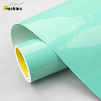 CARBINS Premium Super Gloss Tiffany Green Vinyl Sticker Car Wraps Roll Sheet
