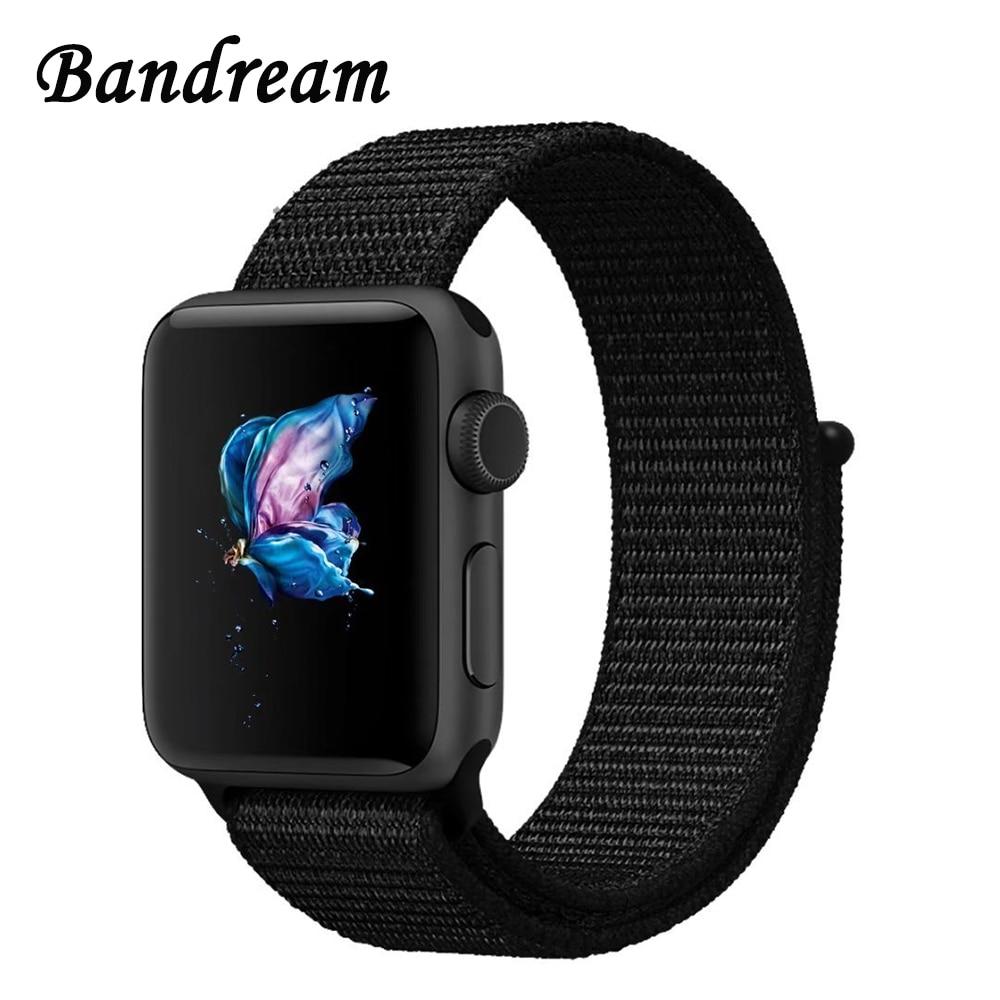 Hook & Loop Woven Nylon Watchband for iWatch Apple Watch 38mm 42mm Series 3 2 1 Sports Band Breathable Strap Wrist Belt Bracelet survival nylon bracelet brown