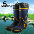 Striped Tie Up High Quality Funky Mixed Color Pleated New Arrival Thermal Individuality Winter Fishing Men Boots Platform