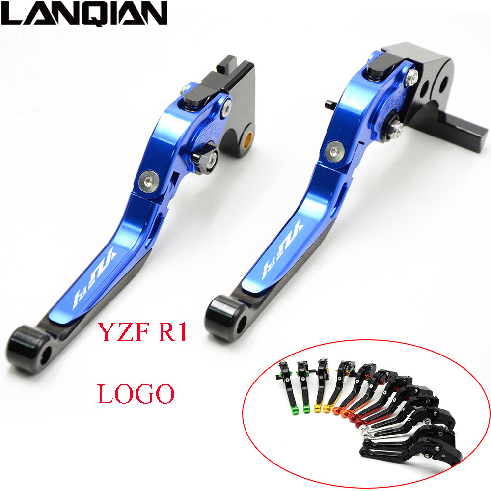 For YAMAHA YZF R1 1999-2017 CNC Aluminum Motorcycle Brakes Clutch Levers Adjustable Folding Extendable 2012 2013 2014 2015 2016 for yamaha cnc adjustable foldable extendable motorbike brakes clutch levers for yamaha r6 yzf r6 yfz r6 2005 2016 yfzr6 logo