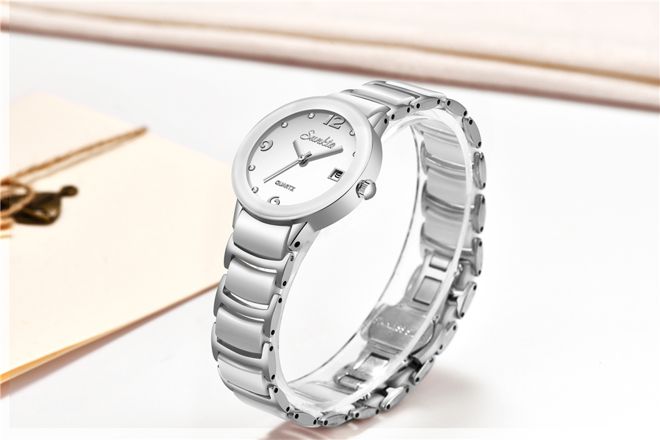 luxo aço inoxidável saterproof relógios moda esportes