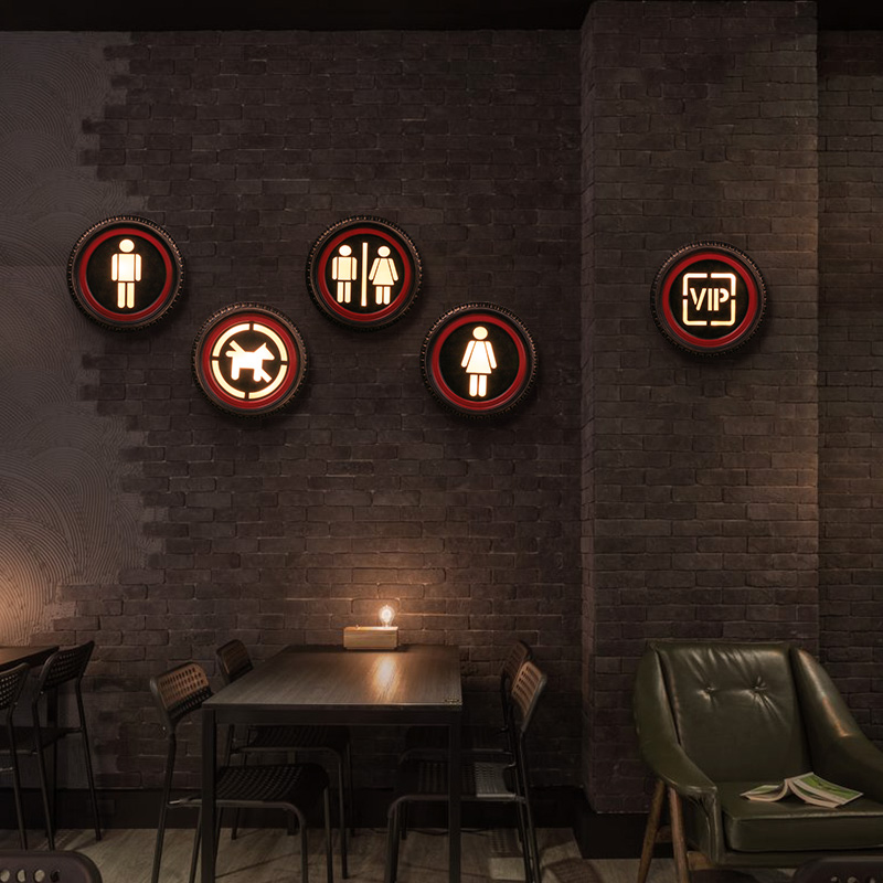 2018 Vintage LED Light Sign Wall Decoration Wall Hanging Bar Restaurant Home Decoration Furnishing Murals Crafts Ornaments Gifts
