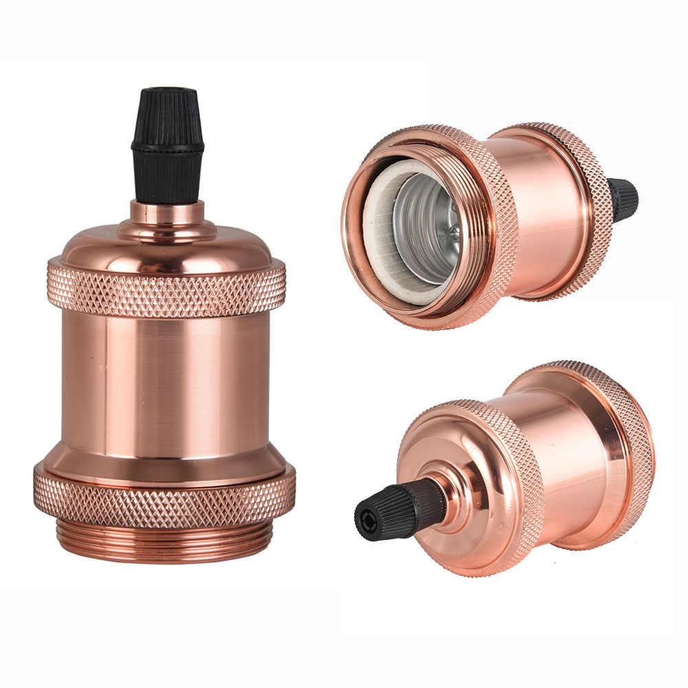 Aluminum Lamp Holder No Switch Vintage lamp base E26 E27 Edison Bulb Lamp Holder bulb socket
