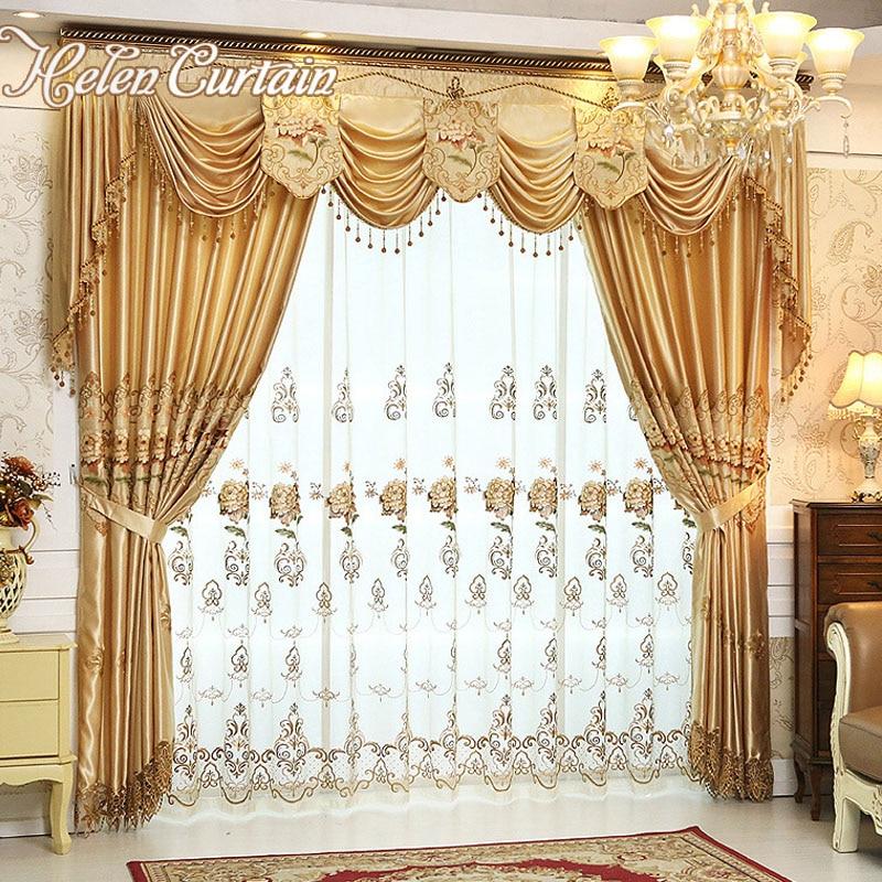 Ensemble helen rideau de luxe rideaux pour salon avec - Style de rideaux pour salon ...