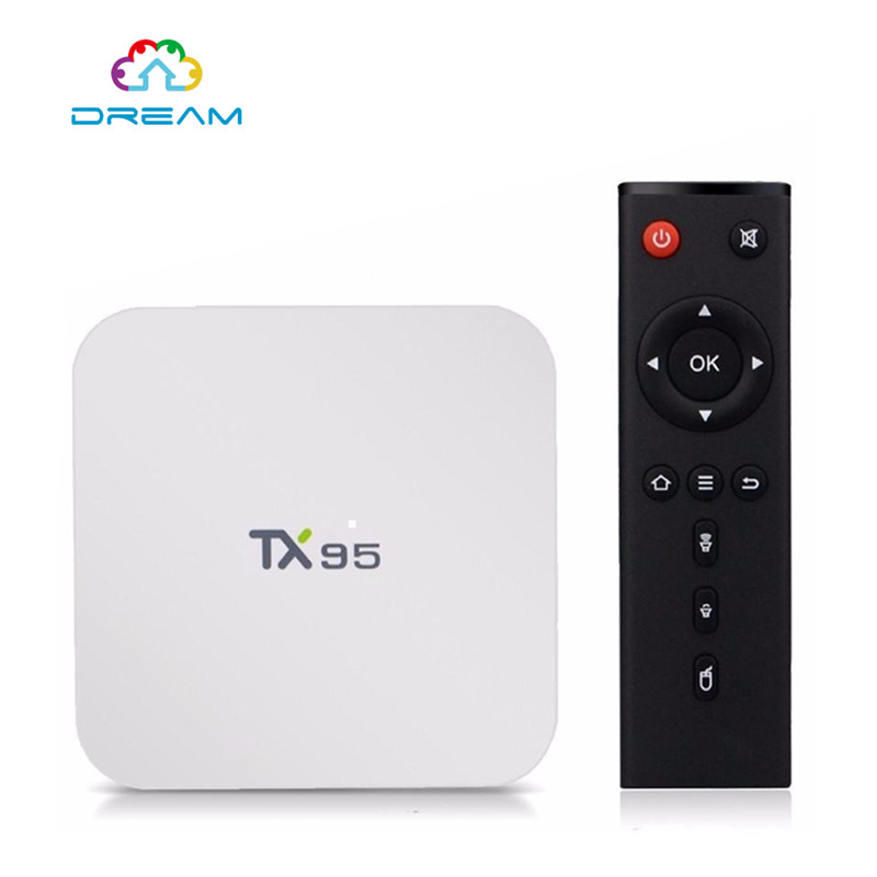 Smart Android Tv BoxTX95 2G 16G Android 6.0 TV Box S905X Quad Core 2.4G/5Dual Wifi 16.1 Bluetooth 4.1 4k 1000M PK X96 T95N